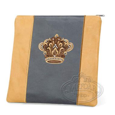 Highest Nobility, Elegant Style Tallis / Tefillin Bag, Camel/Grey, LL