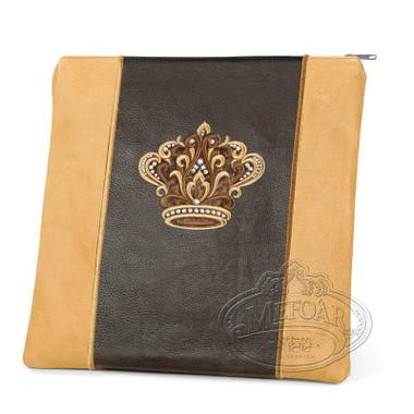 Highest Nobility, Elegant Style Tallis / Tefillin Bag, Camel/Brown, LL