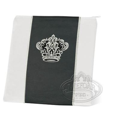 Highest Nobility, Elegant Style Tallis / Tefillin Bag, White/Black, LL