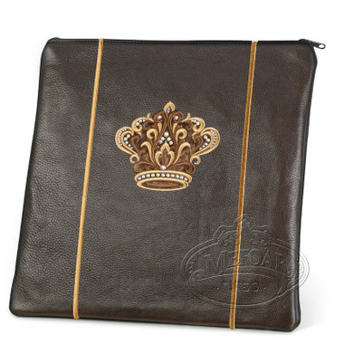 Highest Nobility, Elegant Style Tallis / Tefillin Bag, Brown, LR