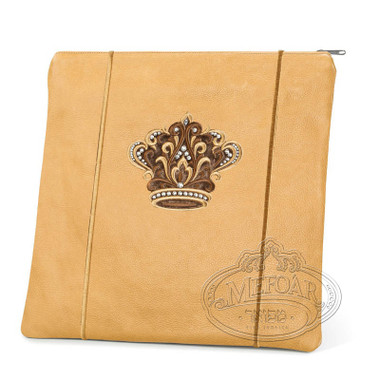 Highest Nobility, Elegant Style Tallis / Tefillin Bag, Camel, LR