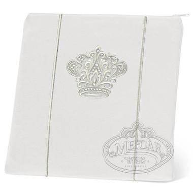 Highest Nobility, Elegant Style Tallis / Tefillin Bag, White/Silver, LR