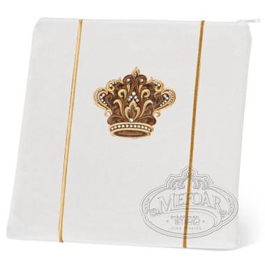 Highest Nobility, Elegant Style Tallis / Tefillin Bag, White/Gold, LR