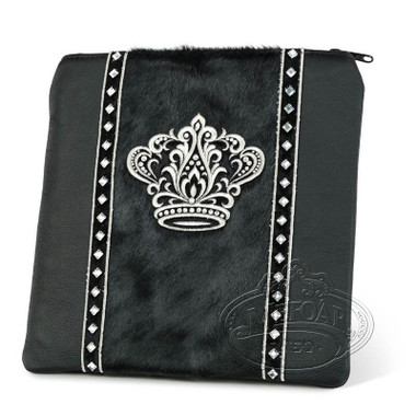 Finest Splendor, Decorative Style Tallis / Tefillin Bag, Black/Black Fur, LF