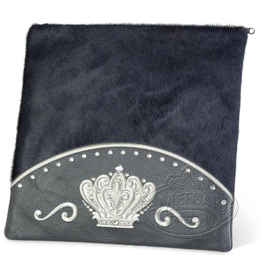 Brilliant Majesty, Elegant Style Tallis / Tefillin Bag, Grey/Grey Fur, LF