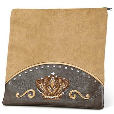 Brilliant Majesty, Elegant Style Tallis / Tefillin Bag, Brown/Camel Fur, LF