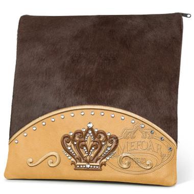 Brilliant Majesty, Elegant Style Tallis / Tefillin Bag, Camel/Brown Fur, LF