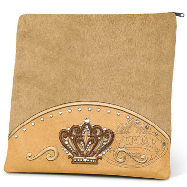 Brilliant Majesty, Elegant Style Tallis / Tefillin Bag, Camel/Camel Fur, LF