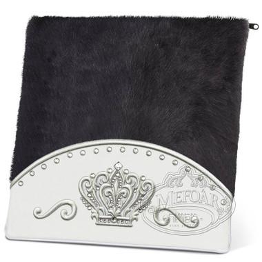 Brilliant Majesty, Elegant Style Tallis / Tefillin Bag, White/Black Fur, LF