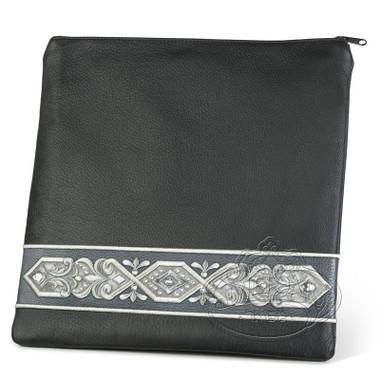 Imperial Dignity, Classic Style Tallis / Tefillin Bag, Black/Grey, LL