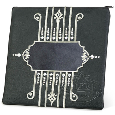 Illustrious Design, Elegant Style Tallis / Tefillin Bag, Black/Grey, LF