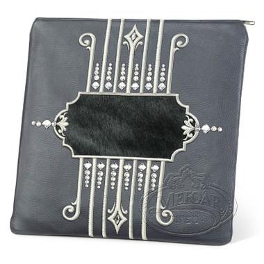 Illustrious Design, Elegant Style Tallis / Tefillin Bag, Grey/Black, LF