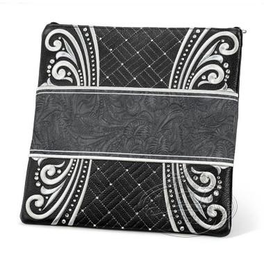 Elegant Perfection, Decorative Style Tallis / Tefillin Bag, Black/Grey Exotic, LE