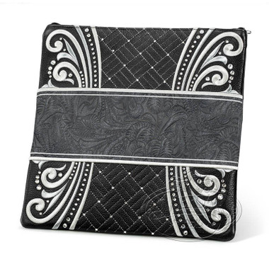 Elegant Perfection, Decorative Style Tallis / Tefillin Bag, Black/Grey Exotic, LE
