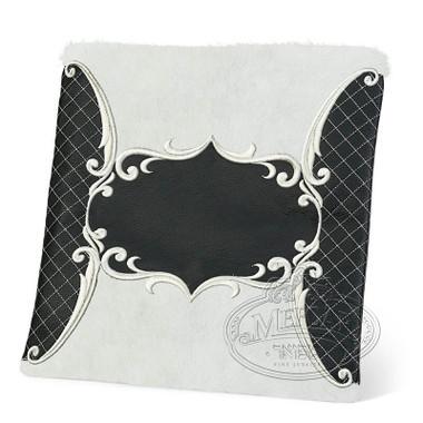 Precise Styles, Elegant Style Tallis / Tefillin Bag, Black/White Fur, LF