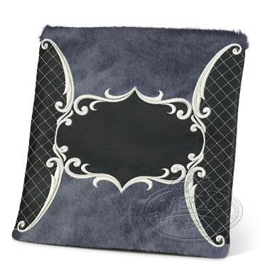 Precise Styles, Elegant Style Tallis / Tefillin Bag, Black/Grey Fur, LF