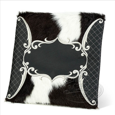 Precise Styles, Elegant Style Tallis Bag, Black/Cowhide Fur, LF