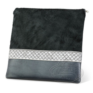 Impeccable Craft, Classic Style Tallis / Tefillin Bag, Black Fur/Grey, LF