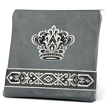 Artistic Expression, Elegant Style Tallis / Tefillin Bag, Grey/Black, LL