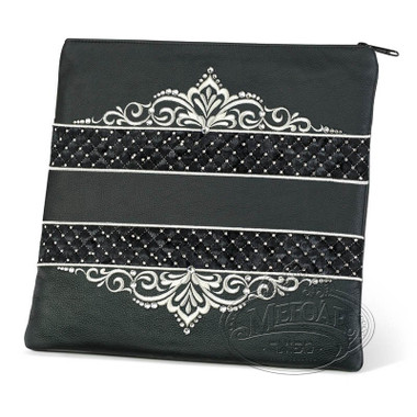 Intricate Detail, Decorative Style Tallis Bag, Black, LR