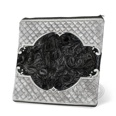 Quality Textiles, Elegant Style Tallis / Tefillin Bag, Black Exotic/Grey, EX