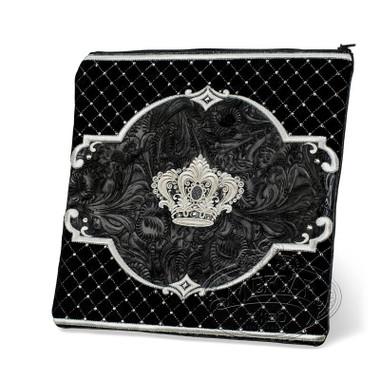 Refined Shapes, Decorative Style Tallis / Tefillin Bag, Black Exotic/Black, EX