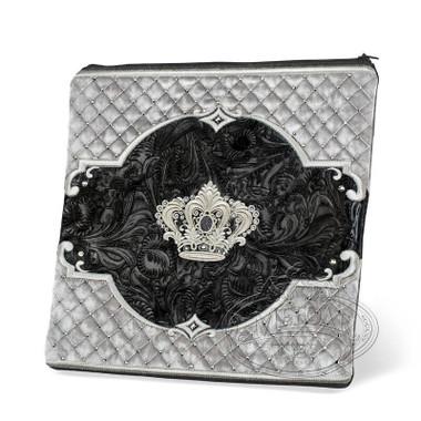 Refined Shapes, Decorative Style Tallis / Tefillin Bag, Black Exotic/Grey, EX