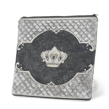 Refined Shapes, Decorative Style Tallis / Tefillin Bag, Grey Exotic/Grey, EX