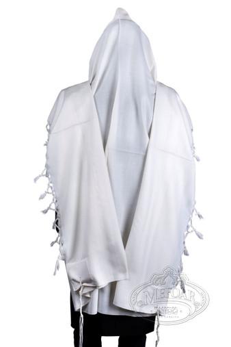 Tallis Wool Hamefoar - Deluxe - White Stripes