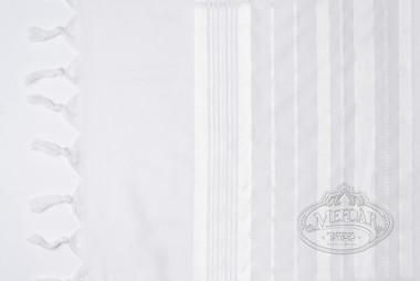 Tallis Wool Hamefoar - White Stripes