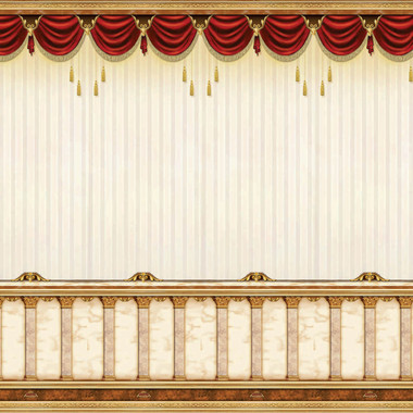 "Mefoar Judaica Sukkah Tapestry, Curtain Design, 90"" x 48"", Outdoor Fabric, Wall Hanging, Jewish Succos Decorations - Festive Sukkot Mural"