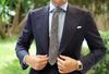 OTAA - Black Chevron Wool Tie