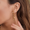 Everly Drop Chain Earring - GOLD