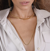Largo Box Chain Necklace - GOLD
