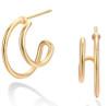 Double Hoop Earring - GOLD