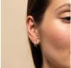 Double Hoop Earring - GOLD/CZ