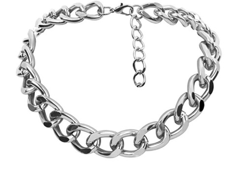 The Frumee Link Choker/Necklace - SILVER