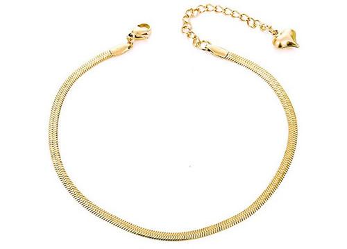 Snake Chain Anklet  - GOLD
