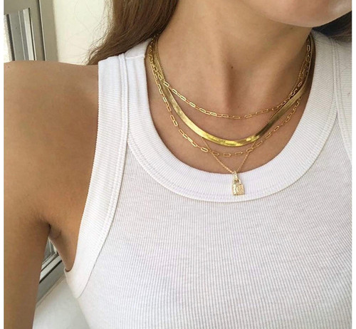 Snake Chain Necklace/Choker - GOLD