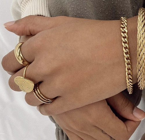 Riley Chain Bracelet- GOLD