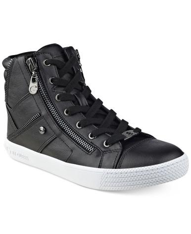 High Top Sneakers , Black