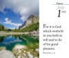 Verse for the Day Daily desk calendar 2022 - tear-off page with KJV Bible Verse and nature scene