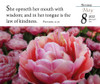 Verse for the Day Daily desk calendar 2022 with KJV Bible Verse with a flower