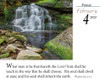 Verse for the Day Daily desk calendar 2022 with KJV Bible scripture and waterfalls