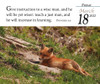 Verse for the Day Daily desk calendar 2022 with KJV Bible Verse and wild fox