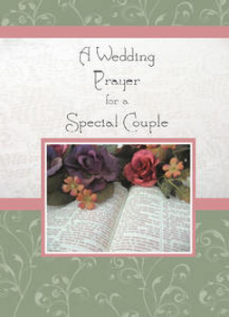 """A Wedding Prayer for a Special Couple - 5"""" x 7"""" KJV Greeting Card"""
