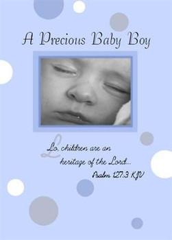 "A Precious Baby Boy - 5"" x 7"" KJV Greeting Card"