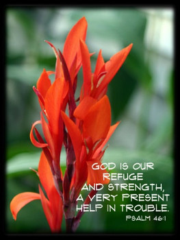 God Is Our Refuge - 5 Blank Notecards