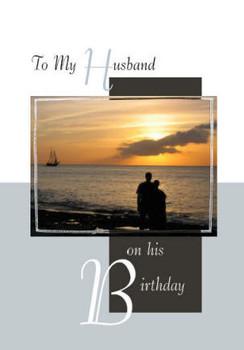 "To My Husband on His Birthday - 5"" x 7"" KJV Greeting Card"