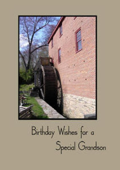 """Birthday Wishes for a Special Grandson - 5"""" x 7"""" KJV Greeting Card"""